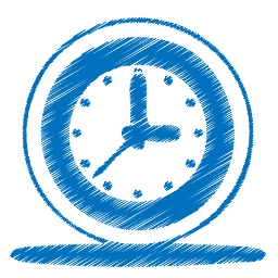 OBI Services Blue Clock Image