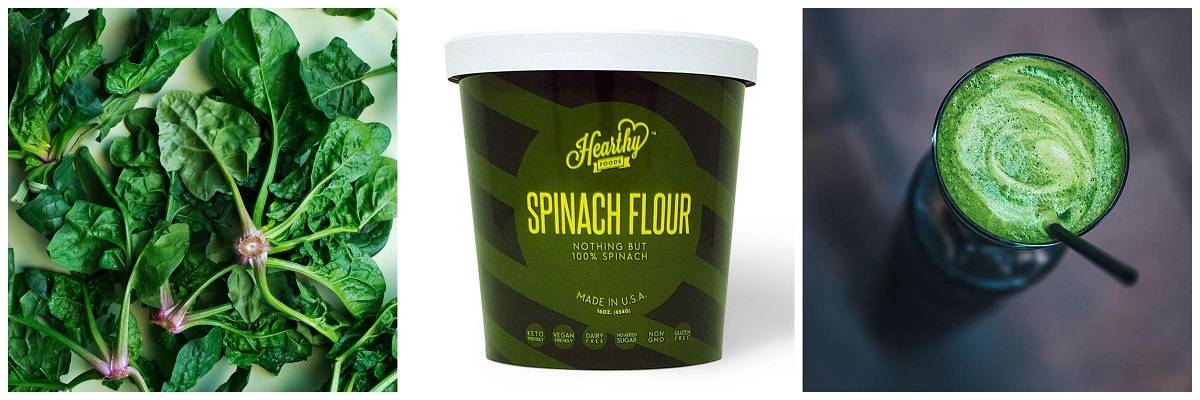 keto friendly Spinach Flour