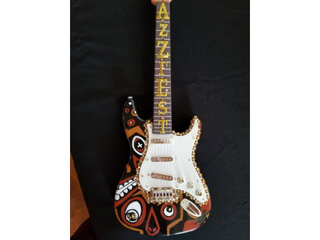604 Jill Grisamore Hand Painted Electric Guitar
