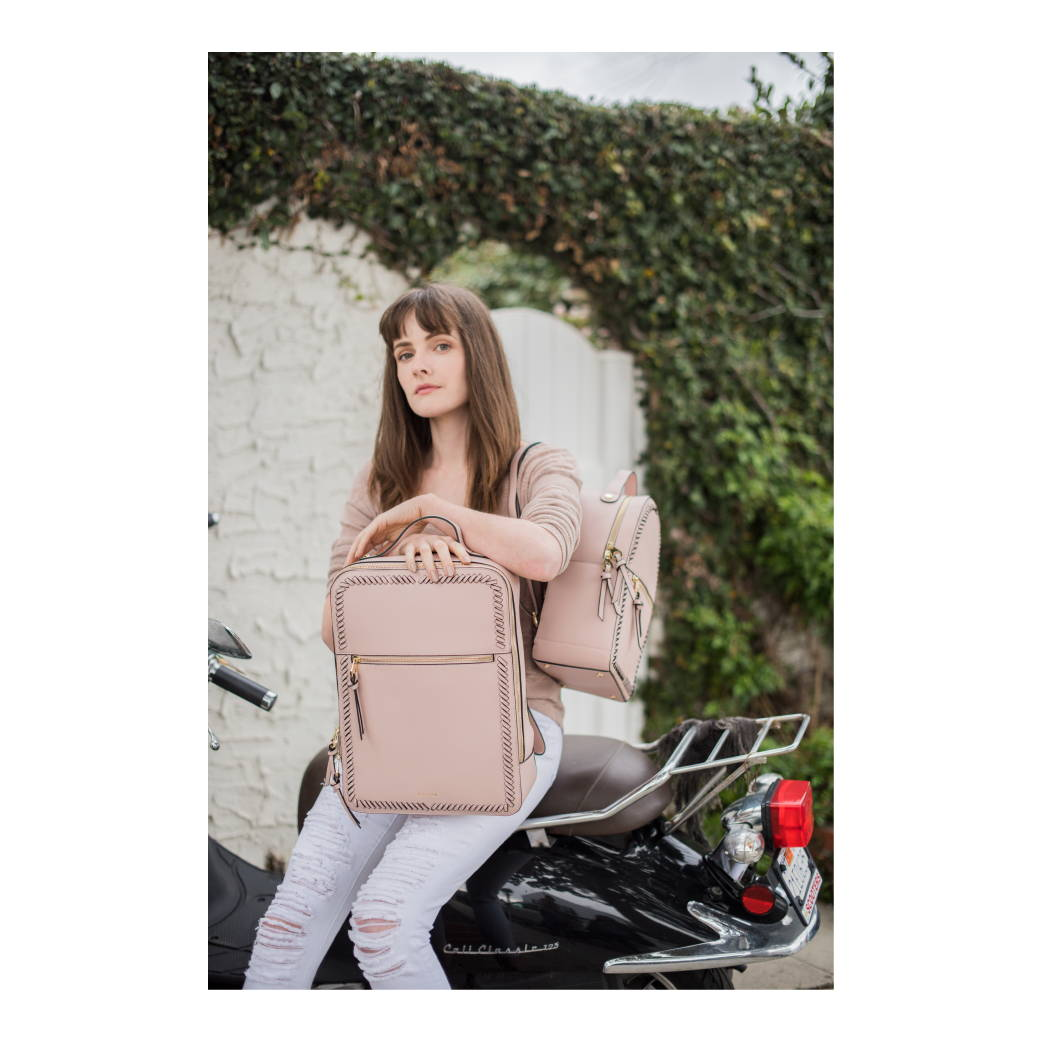 Kaya Backpack & Laptop Backpack in Blush