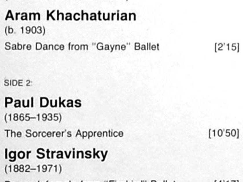 DG/Fiedler/Saint-Saens - Danse Macabre, Mussorgsky Night on Bald Mountain, ... / NM