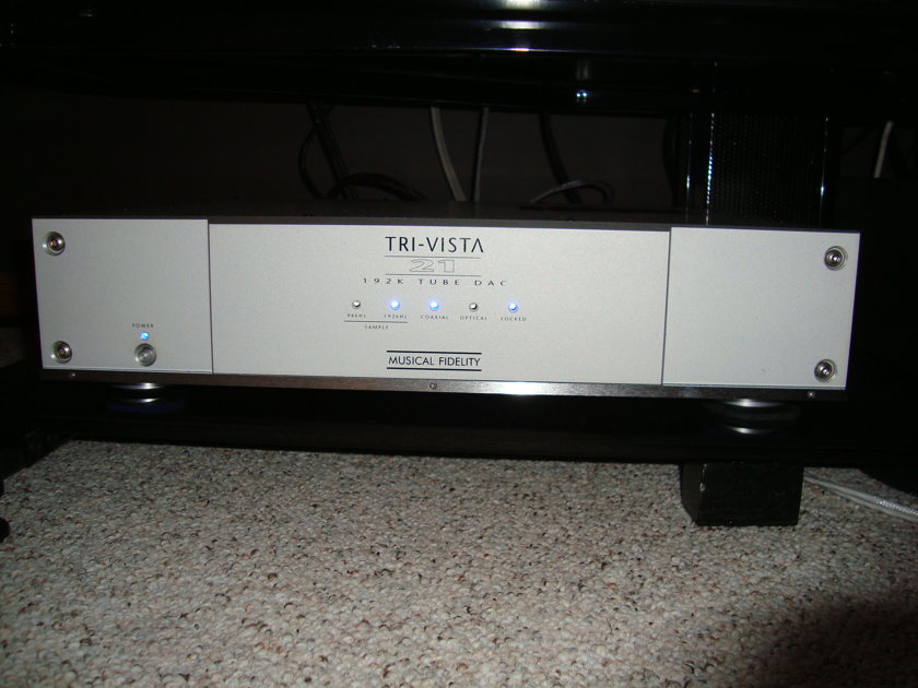 """Musical Fidelity Tri Vista 21 DAC MF updated """"fine tuning, new tubes"""