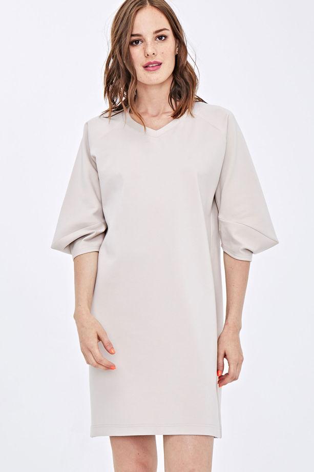 Платье бежевое KK-Basic