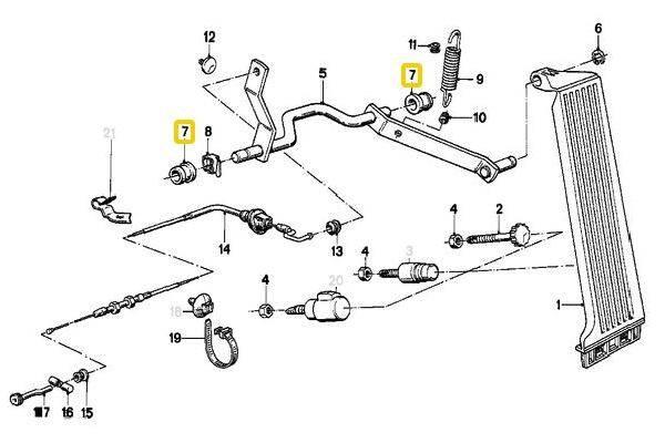 E30 Accelerator Pedal Bushing 35411119016