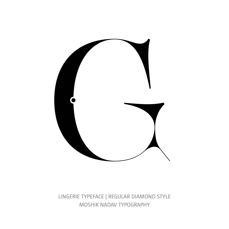 Lingerie Typeface Regular Diamond G