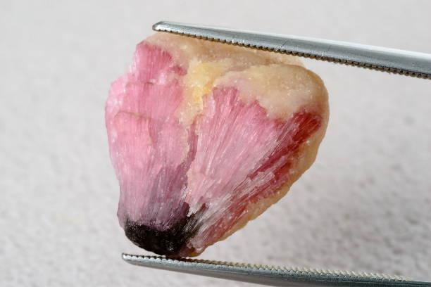 Black and pink tourmaline