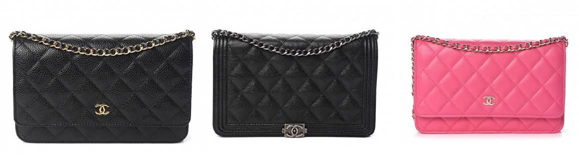 3 Chanel Wallets on Chain