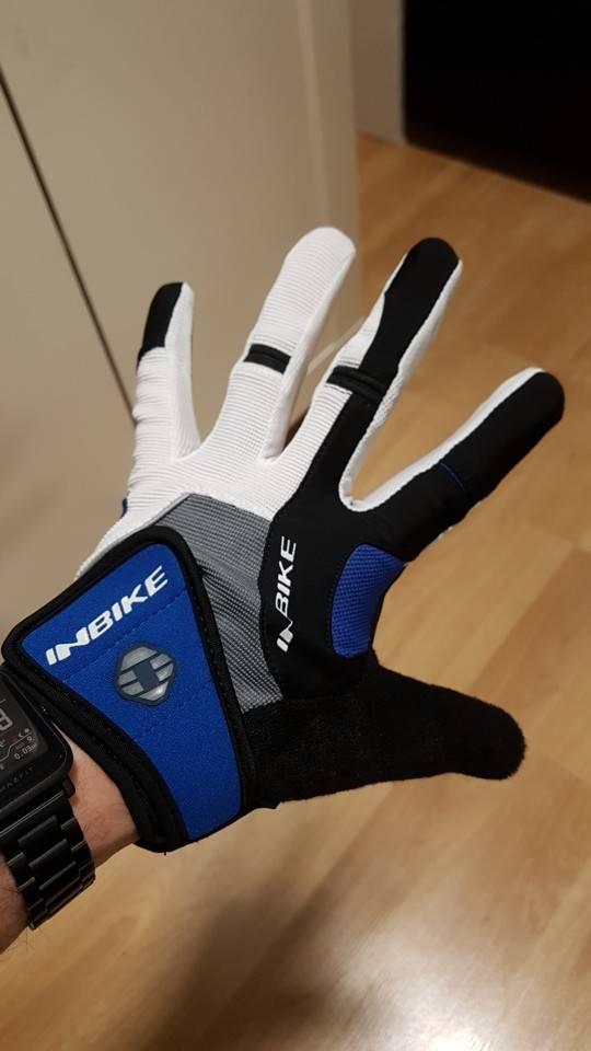 gants trottinette rembourrés antichocs bleu