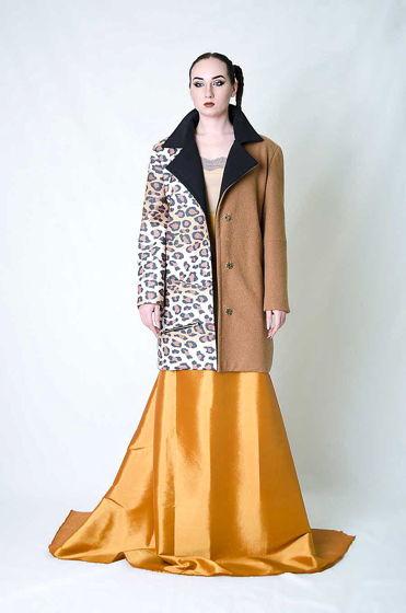 Комбинированное пальто мужского кроя