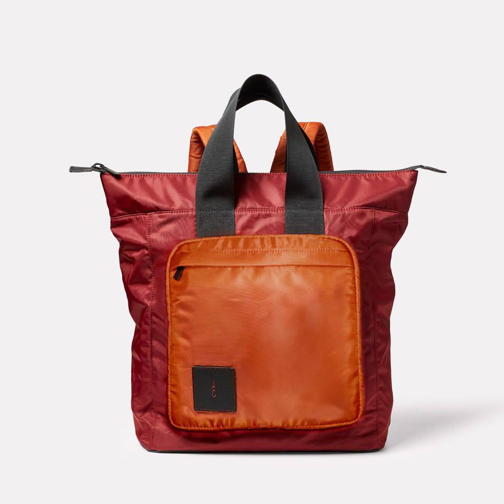 Birdie Nylon Rucksack Bag in Rust