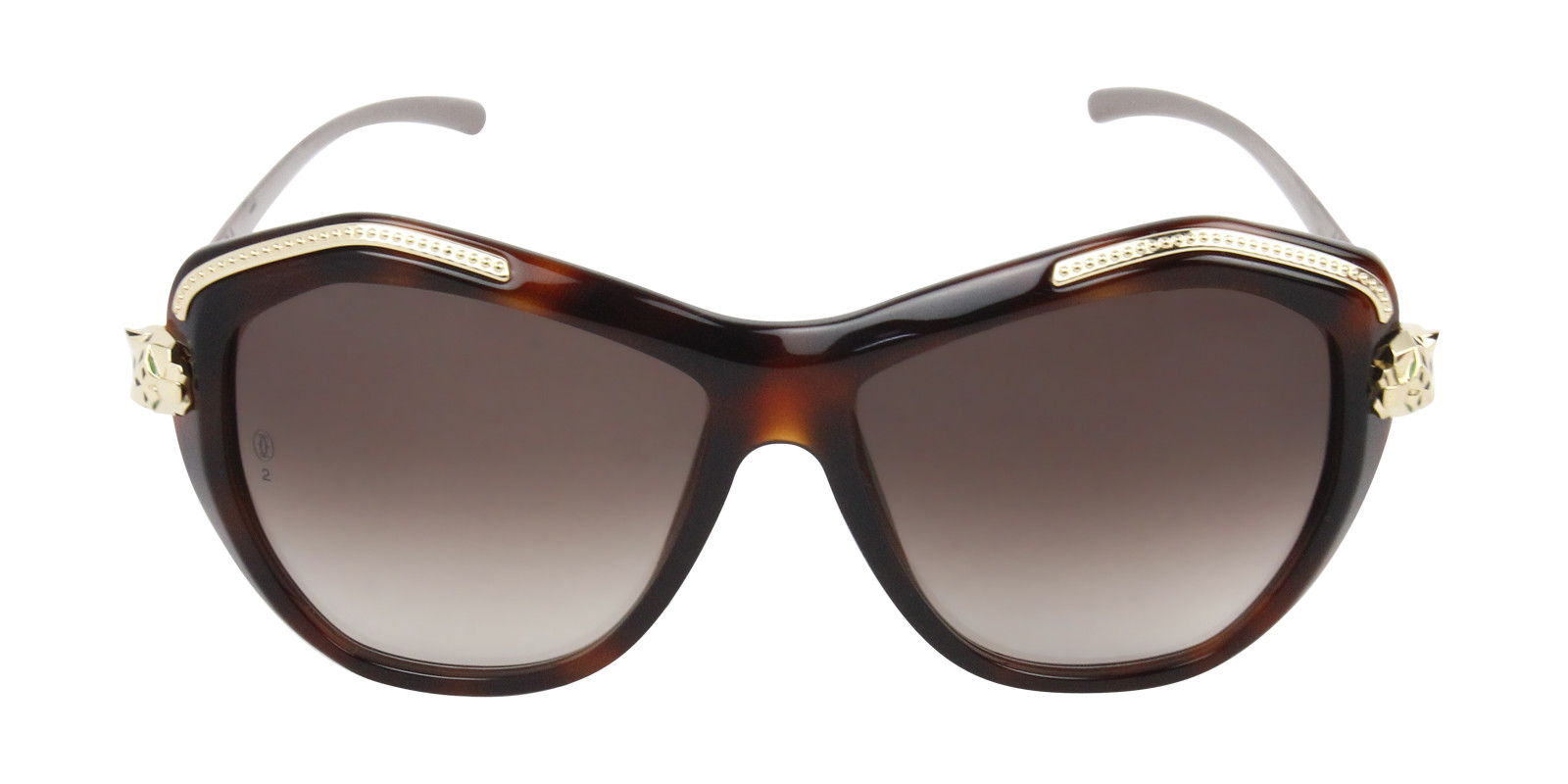 CARTIER WOMEN'S PANTHERE WILD T8201076 SUNGLASSES (front)