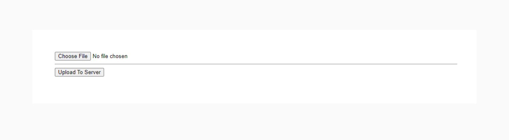 HTML5 uploader interface