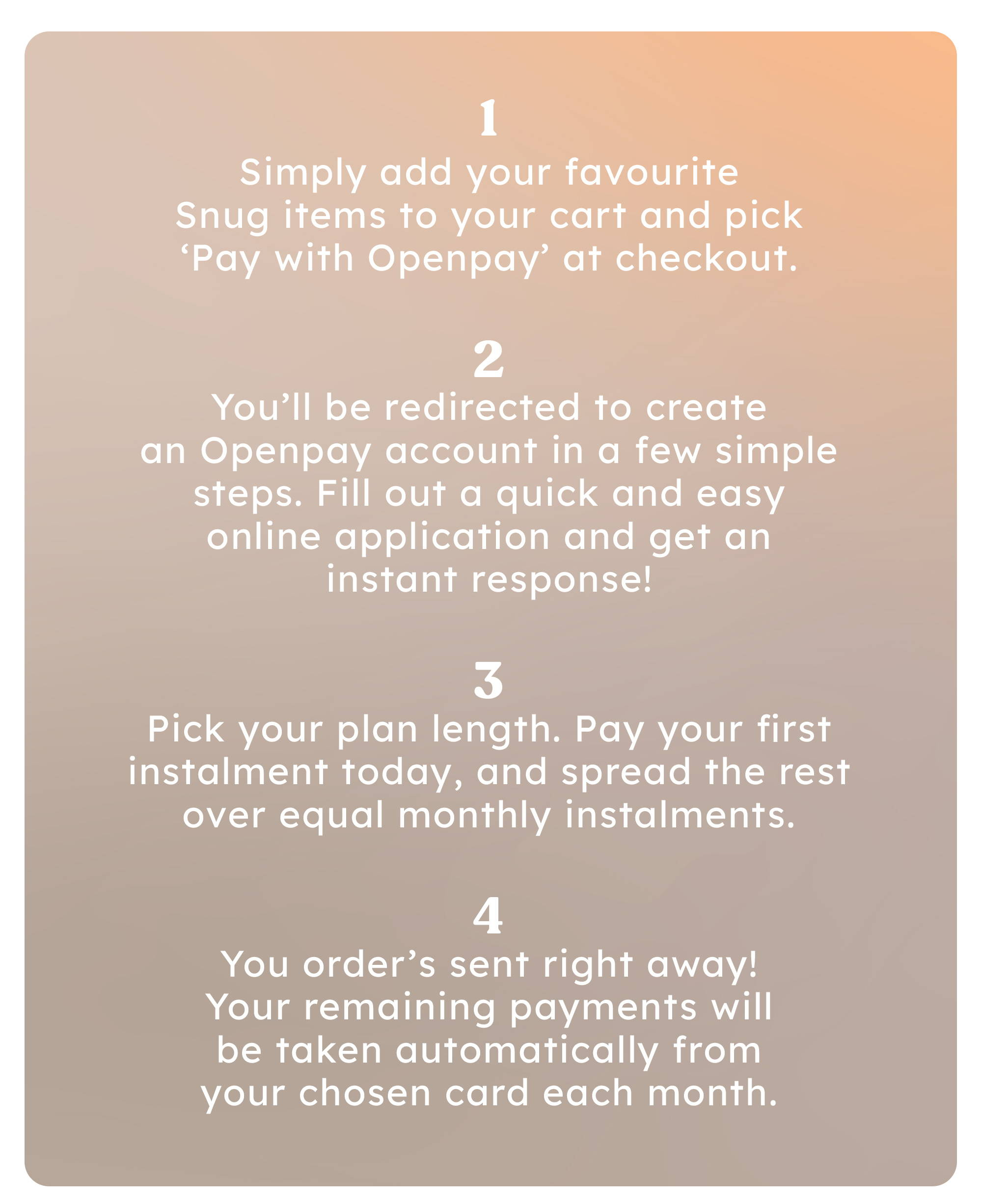 Openpay Finannce - How it works
