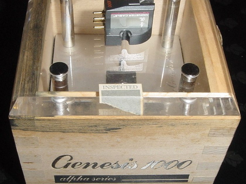 Monster Cable Alpah Genesis 1000 ZYX VinylEngine 5 stars original box