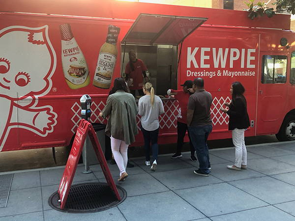 Customers at Kewpie food truck