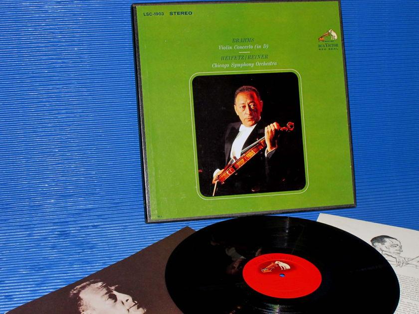 """BRAHMS/Reiner/Heifetz -  - """"Violin Concerto D"""" - RCA Shaded Dog 1963"""
