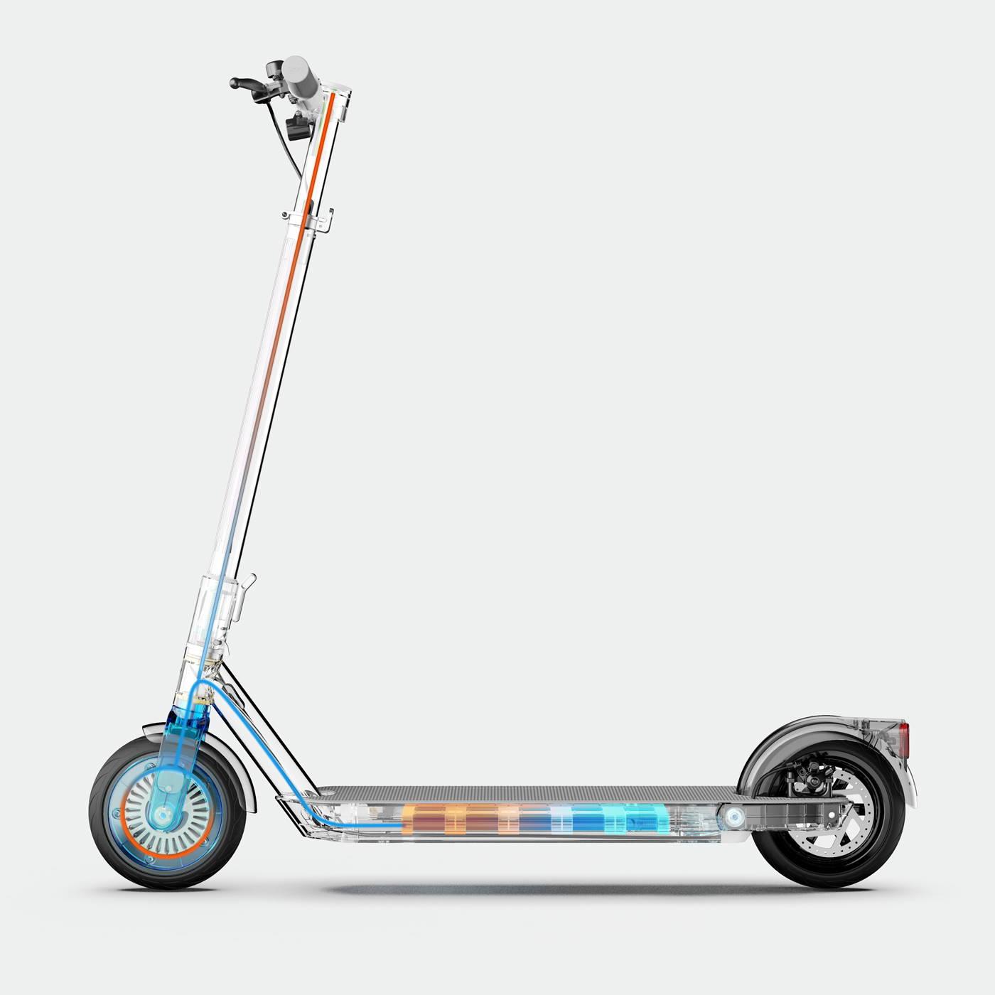 Okai-es200-electric-scooter-deck-handlebars