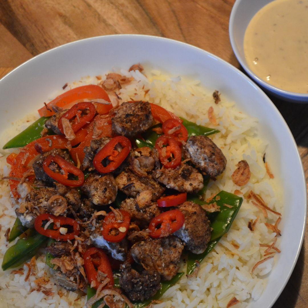 Date: 29 Jun 2020 (Mon) 153rd Main: Salt & Pepper Chicken with Garlic Rice & Japanese Mayo [400] [162.2%] [Score: 10.0] Cuisine: Japanese Dish Type: Main
