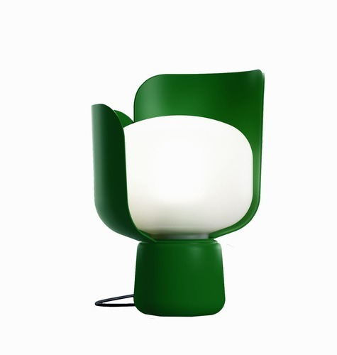 Fontana Arte Blom Table Lamp in Green Forest