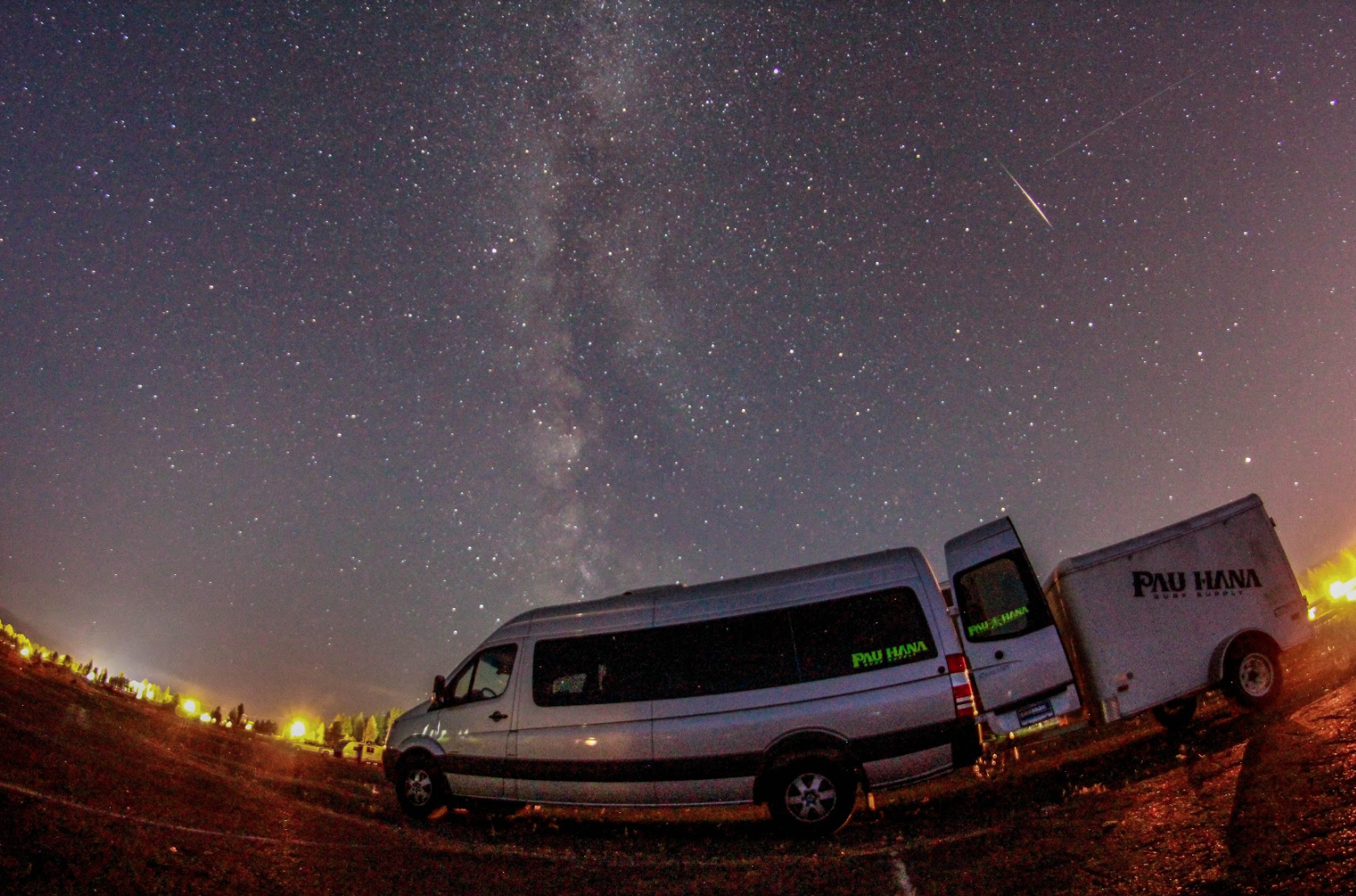 Pau hana sprinter van under the stars in Colorado