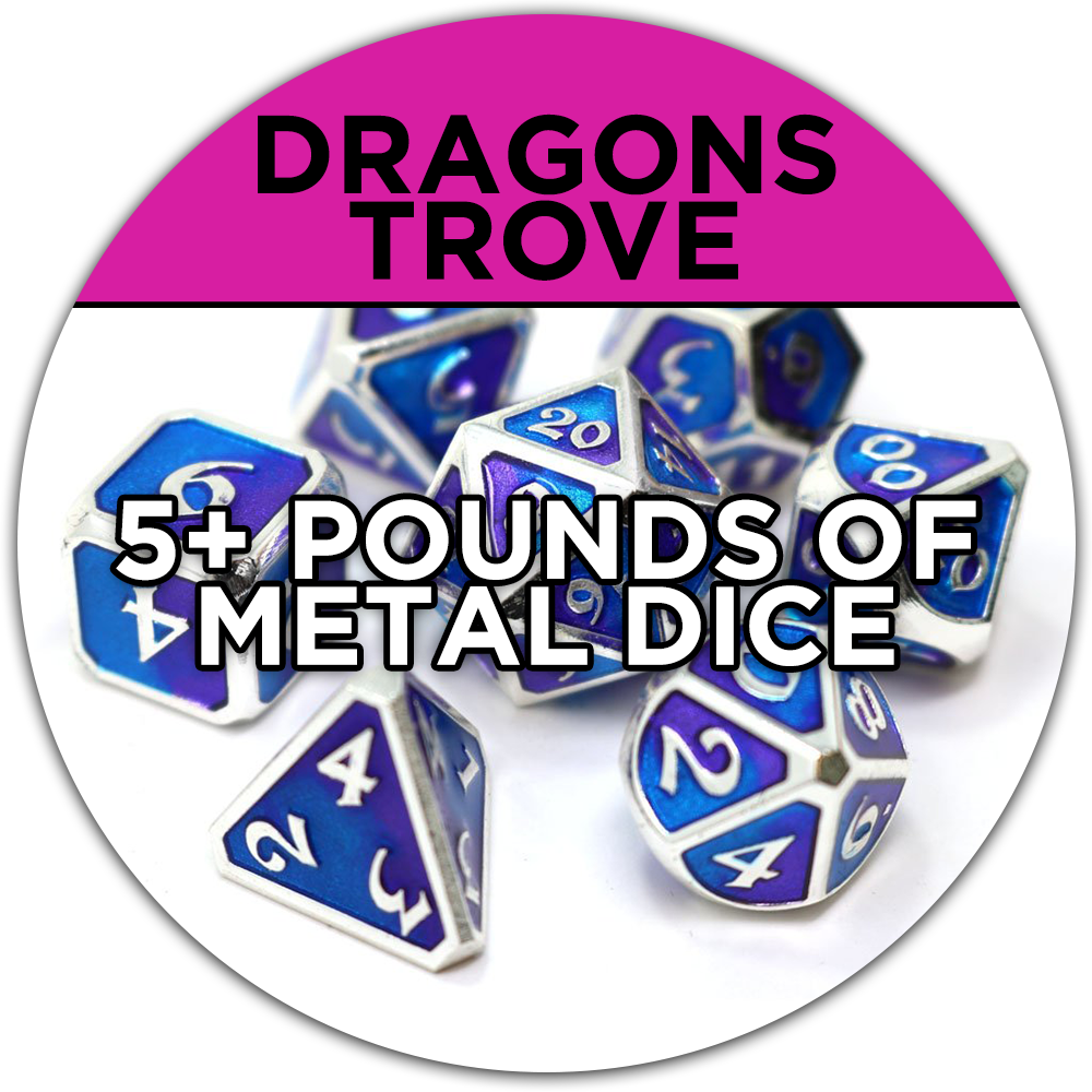 5 pounds of metal dice bundle