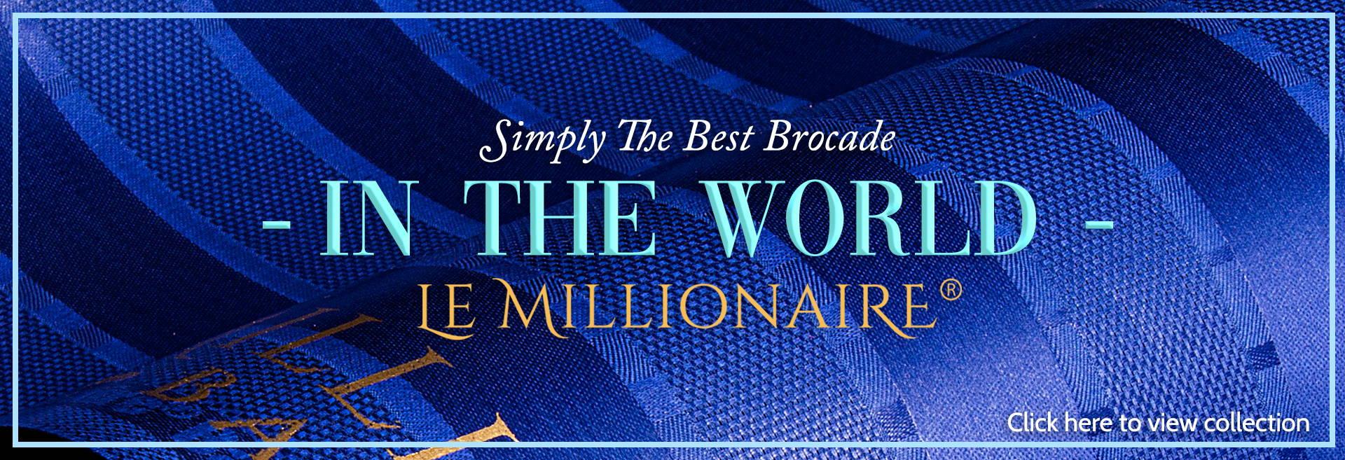 le millionaire bazin brocade
