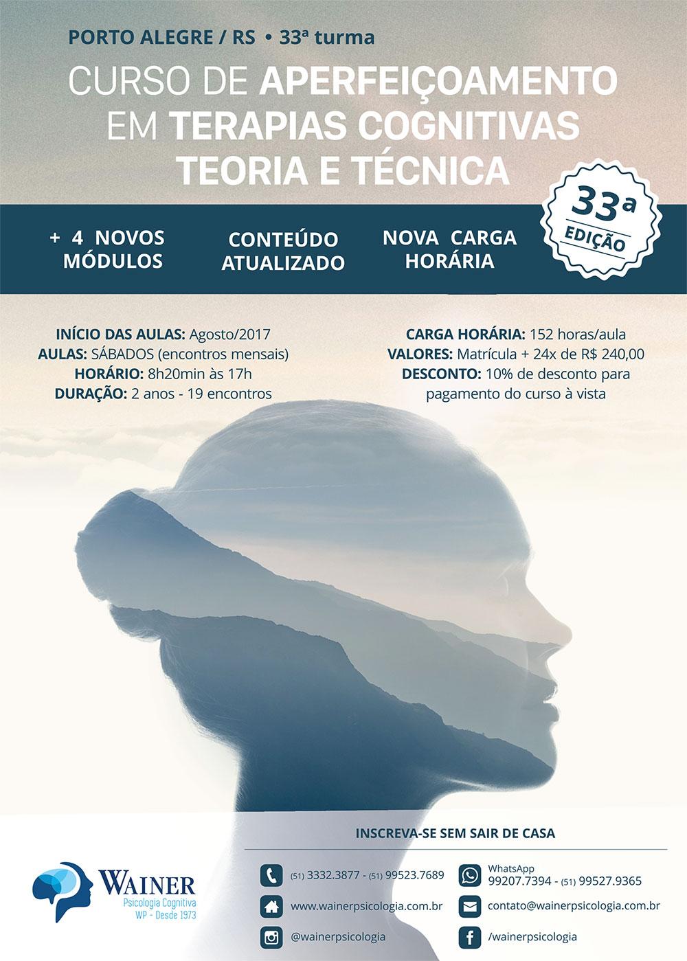 Curso de Aperfeiçoamento em Terapias Cognitivas: Teoria e Técnica