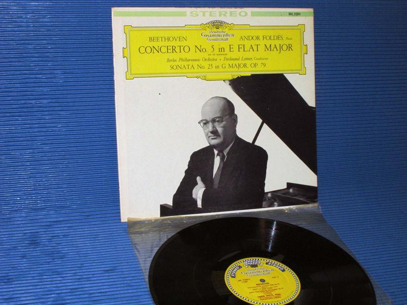 """BEETHOVEN / Leitner / Foldes  - """"Concerto No. 5 (Emperor)"""" - DGG 1960 'Large Tulip'"""