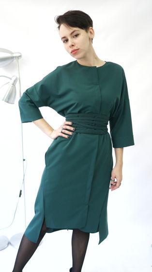 Платье Кимоно | изумруд