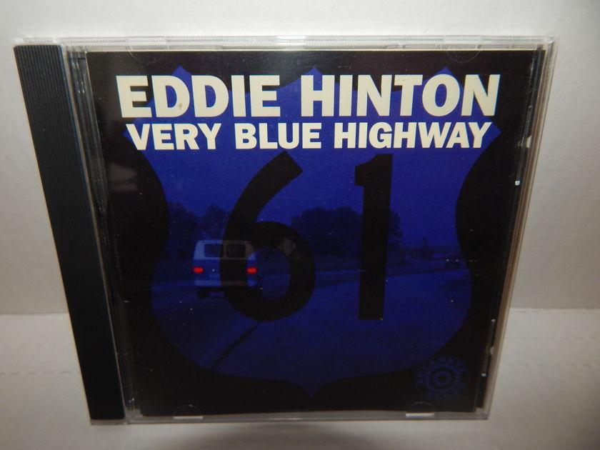 EDDIE HINTON Very Blue Highway - 1993 Rounder Bullseye Blues Promo Blues 1st Pr CD