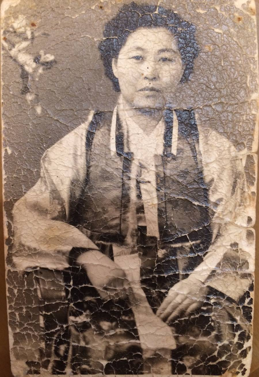 LEEHWA'S HISTORY AND STORY OF FOUNDING THE BUSINESS. GRANDMA IN AGE OLD PHOTOGRAPH.