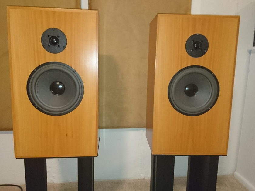 Audio Note UK AN-J spe  in pearwood finish w/ Audionote stands, Sogon jumpers