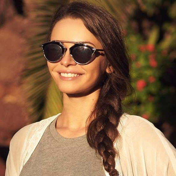 girl with a side swept braid