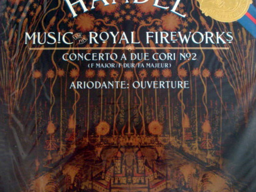 ★Sealed★ CBS / MALGOIRE, - Handel Royal Fireworks, Concerto a Due Cori No.2!