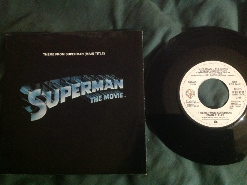 John  Williams - Theme From Superman Promo Mono/Stereo 45 With Sleeve