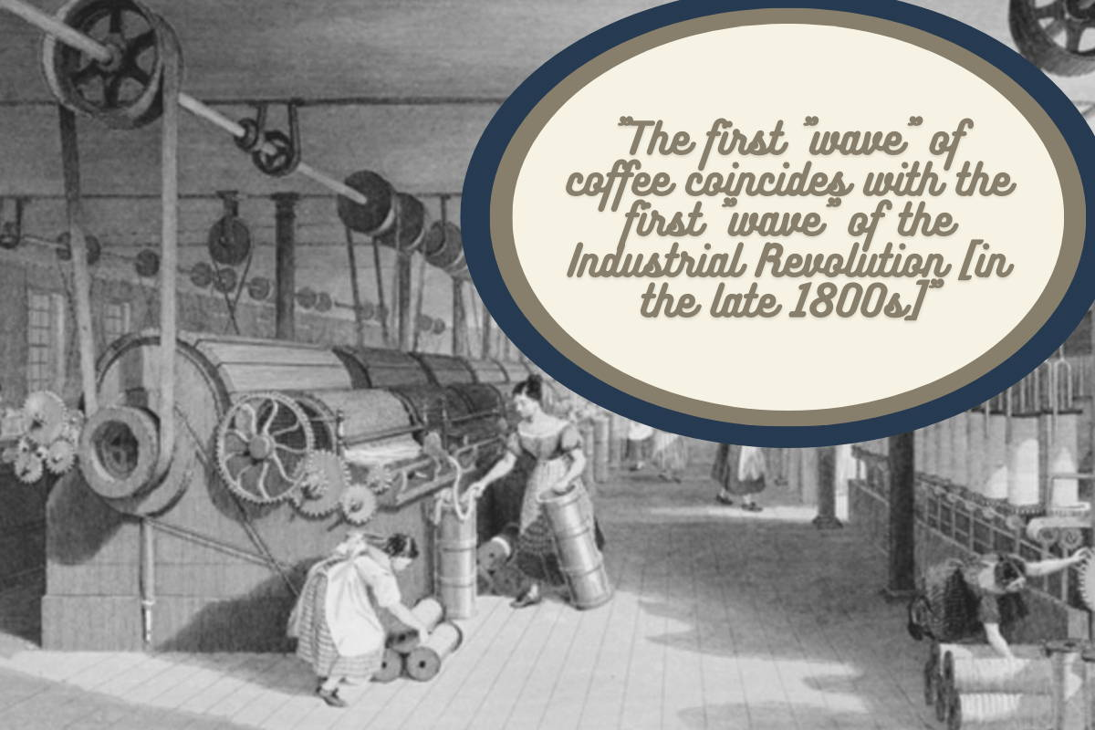 A public domain illustration of a factory/workers in the early 20th century
