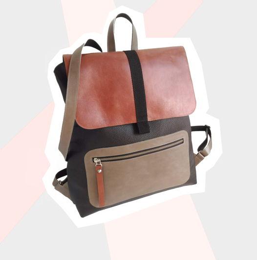 Рюкзак XL Черный/виски/серый