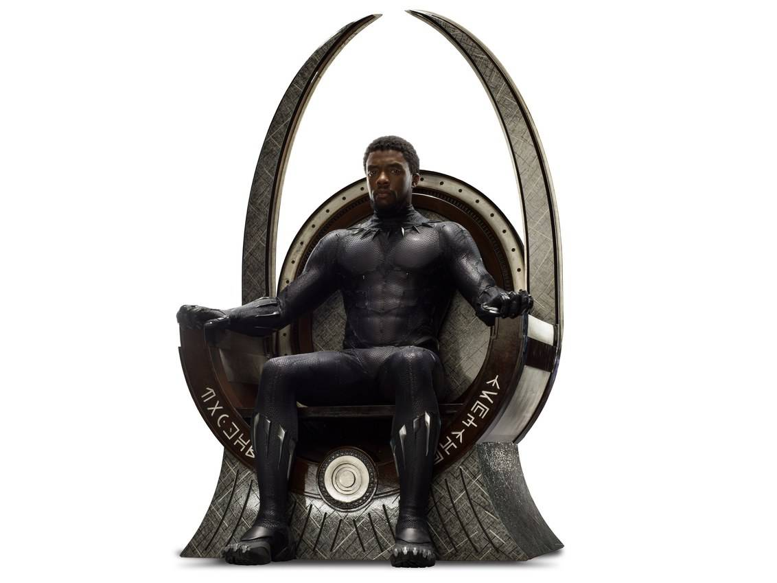 Black Panther on Meteorite Throne