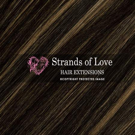 Strands Of Love Hair Extensions Colour Soft Black Camo Highlight