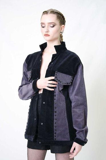 Вельветовая куртка с бусинами