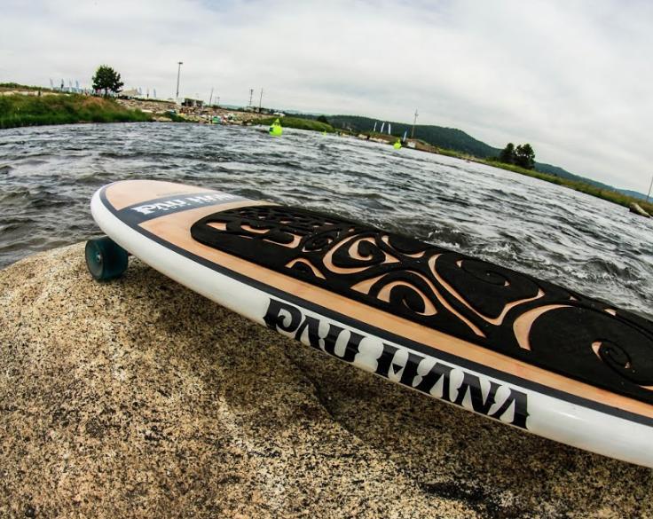 Deck pad details of the Oahu Sk8 Skateboard by Pau Hana Surf Supply