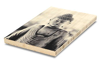 Photo printed directly on bamboo
