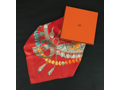 Hermes Jewel Red Scarf