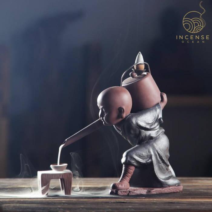 Zen Kung Fu Monk Incense Burner