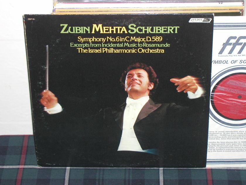 Mehta/IPO - Schubert Sym No 6  LP London ffrr uk decca cs7115