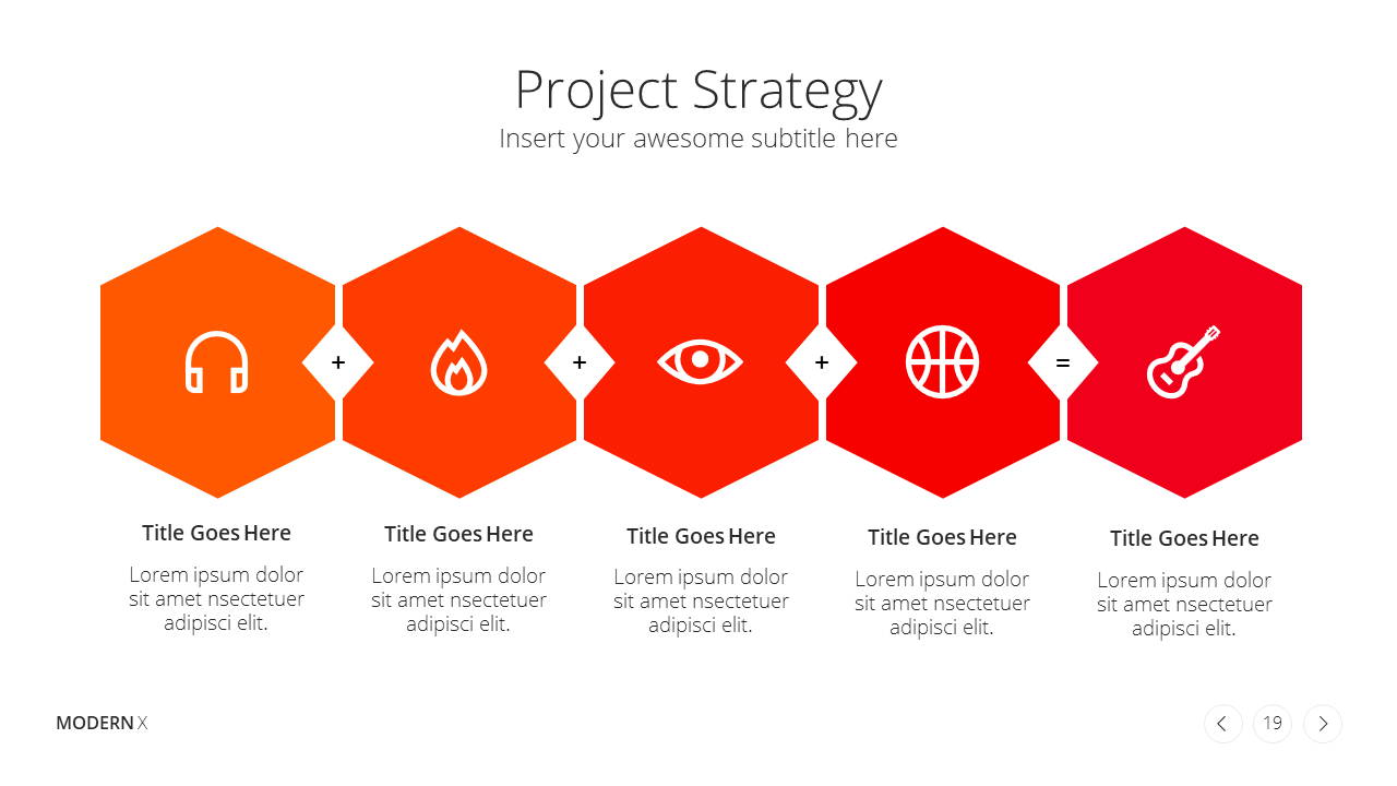 Modern X Project Proposal Presentation Template Project Strategy