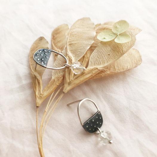 Сережки Polka dotts из серебра с хрусталём