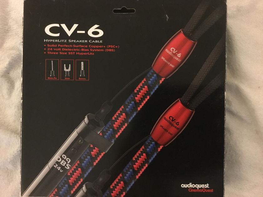 Audioquest CV-6 CV6 ~ 10' banana plugs -pair AFTERMARKET BANANAS