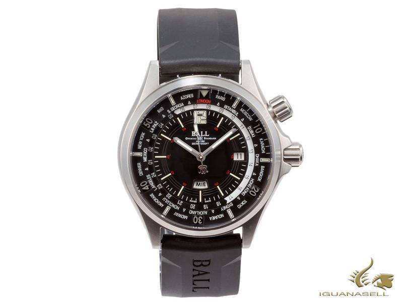 BALL ENGINEER MASTER II DIVER WORLDTIME AUTOMATIC WATCH