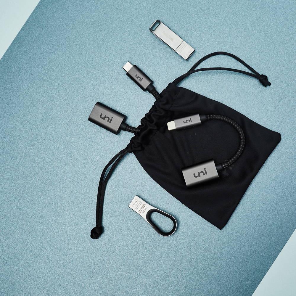USB-C to USB Adapter Nylon Braided - 2 Pack